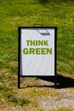 Think Green sign Royalty Free Stock Photos