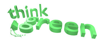 Think green sign with house Royalty Free Stock Photography