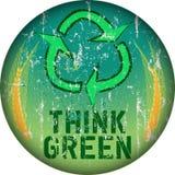 Think green sign Stock Photos