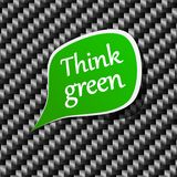 Think green Speech announcement. Stock Photography