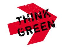 Think green stamp Stock Image