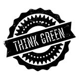 Think green stamp Royalty Free Stock Photo