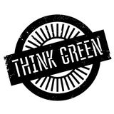Think green stamp Stock Images