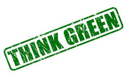 Think green stamp text Royalty Free Stock Photos