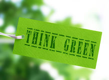 Think green tag Stock Photo