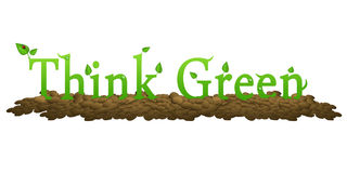 Think Green to save our environment Royalty Free Stock Photography