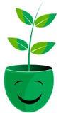 Think green. Vector illustration of think green logo Stock Photo