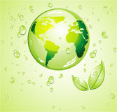 Think Green water Background Stock Photo