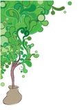 Think gteen. Vector illustration of abstract green tree Stock Photography