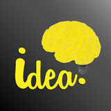 Think hard and fast to get an idea Royalty Free Stock Photography