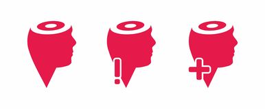 Think head icons. Thinking process concept Stock Image
