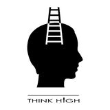Think high symbol Stock Image