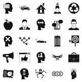 Think icons set, simple style Stock Photos