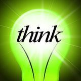 Think Idea Indicates Concept Inventions And Contemplating Royalty Free Stock Photos