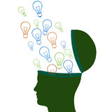 Think Idea Indicates Innovations Consideration And Creative. Think Idea Meaning Contemplation About And Considering Stock Images