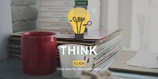 Think Idea Inspiration Planning Thoughts Determination Concept Royalty Free Stock Photos