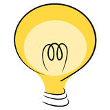 Think idea lamp illustration Royalty Free Stock Photography