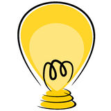 Think idea lamp illustration Stock Images