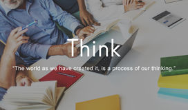 Think Ideas Creativity Strategy Visionary Planning Thinking Conc Royalty Free Stock Photography