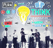 Think Inspiration Knowledge Solution Vision Innovation Concept Royalty Free Stock Photo