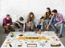 Think Inspiration Motivation Thinking Concept Royalty Free Stock Image