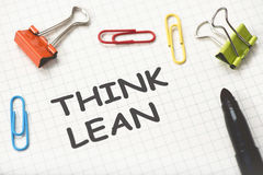 Think Lean Concept. On Paper Royalty Free Stock Photography