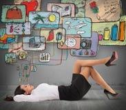 Think of life organization Stock Image
