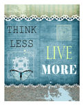Think less Live more Royalty Free Stock Image