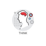 Think New Idea Inspiration Creative Process Business Icon Royalty Free Stock Image