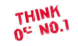 Think Of No.1 rubber stamp Royalty Free Stock Image