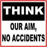 Think our aim, no accidents Royalty Free Stock Photography