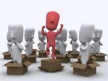 Think out of the box Royalty Free Stock Images