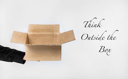 Think out of the box. Concept image for thinking new ideas and creativity Stock Images