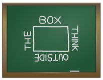 Think outside the box. royalty free illustration