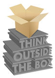 Think outside the box 3d concept illustration Royalty Free Stock Images