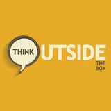 Think outside. The box abstract background Stock Photo