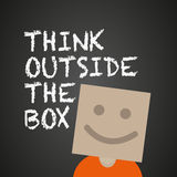 Think outside the box. Abstract background Royalty Free Stock Image