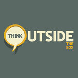 Think outside the box. Abstract design Stock Photo
