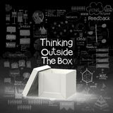 Think outside the box as creative stock illustration