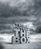 Think outside the box Stock Images