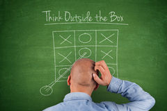 Think outside the box Blackboard Royalty Free Stock Photography