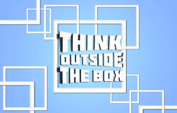 Think outside box blue Stock Images