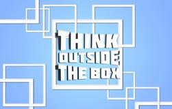 Think outside box blue. Background Stock Images