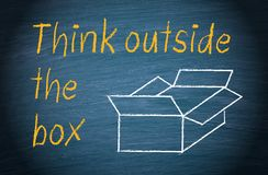 Think outside the box. Brainstorming and creativity royalty free illustration