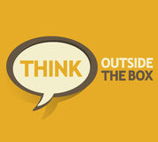 Think outside the box bubble Stock Photo