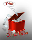 Think Outside the Box Business Slogan Royalty Free Stock Photos