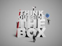 Think outside the box Royalty Free Stock Photos