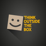 Think outside the box concept Stock Images