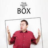 Think outside the box concept Stock Photos