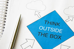 Think Outside the Box Royalty Free Stock Image